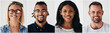 canvas print picture - Confident group of diverse young entrepreneurs smiling