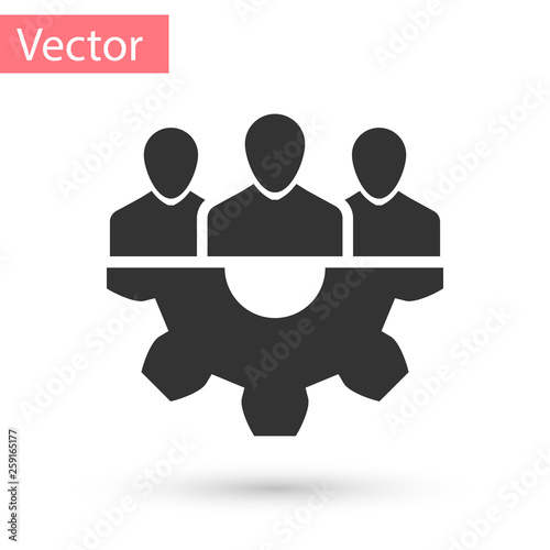 Fototapety, obrazy: Grey Project team base icon isolated on white background. Business analysis and planning, consulting, team work, project management. Developers. Vector Illustration