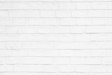 White Paint Brick Wall For Background Texture Design Purpose