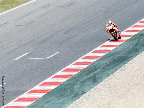 Cuadros en Lienzo  Campeonato del undo moto Gp en Circuit de Montmeló, Barcelona