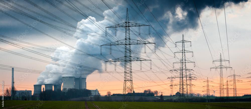 Fototapety, obrazy: Braunkohle Kraftwerk