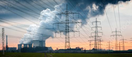 Obraz Braunkohle Kraftwerk - fototapety do salonu