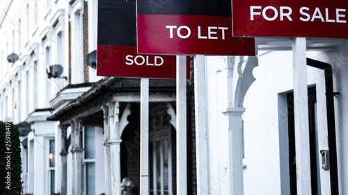 Fotografie, Obraz  Estate Agent signs - Sold, To let & For Sale