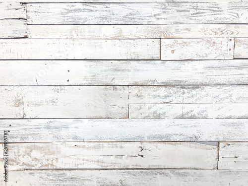 Valokuva  White Rustic Shiplap Background