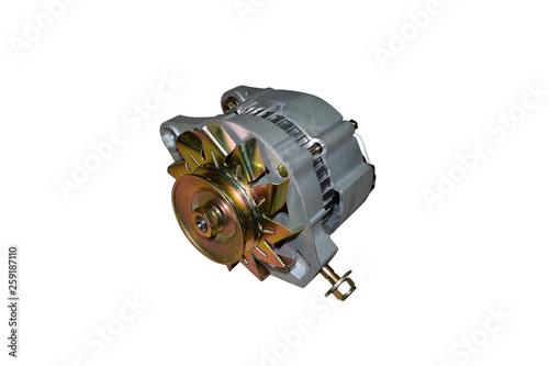 Alternator. Image of car alternator isolated on white. Canvas Print