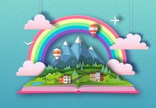 Open Fairy Tale Book With Coun...
