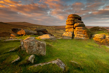 Haytor At Sunrise In Dartmoor,...