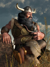 A Dwarf In Fantasy Attire Comp...