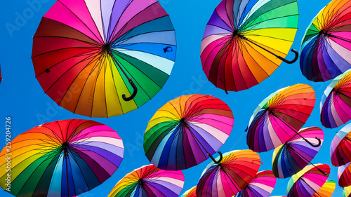 Photo  Rainbow umbrella colorful rainbow