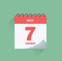 Day Calendar With Date May 7.