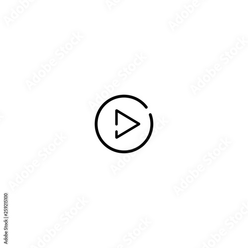Play button vector icon - Buy this stock vector and explore