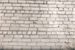 The wall background from white bricks.
