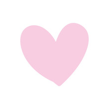 Pink Heart Isolated Icon