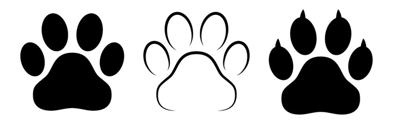 FototapetaDifferent animal paw print vector illustrations