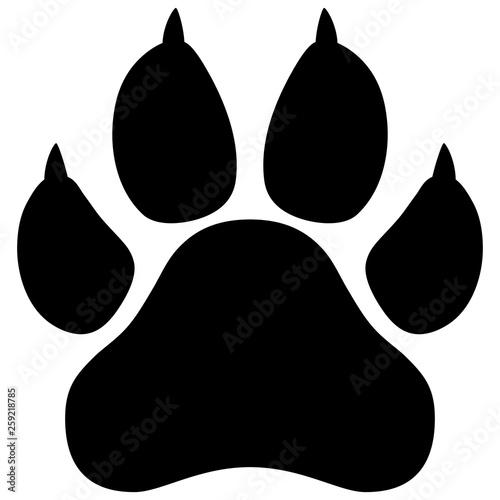 Wildcat paw print vector illustration Fototapete