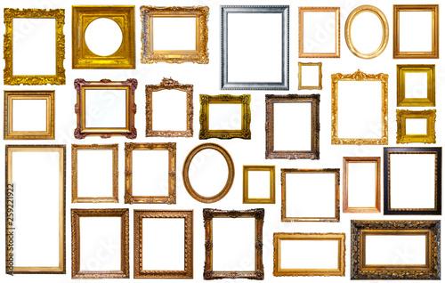 Obraz collectrion of calssical art frames - fototapety do salonu
