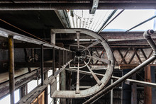 View Of Ladder In Warehouse From Below