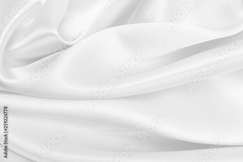 Fotobehang Fractal waves Smooth elegant white silk or satin luxury cloth texture as wedding background. Luxurious background design
