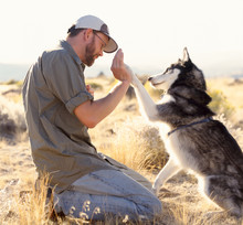 Man Pet Owner Teaching Trainin...