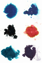 Abstract Fountain Pen Ink Spot...
