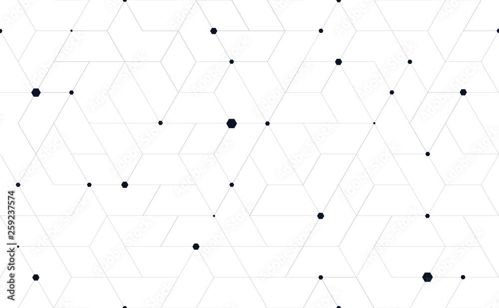Fototapeta Tillable grid mesh geometric pattern repeatable technology hi-tech