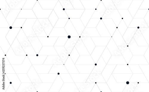 Fotografie, Obraz Tillable grid mesh geometric pattern repeatable technology hi-tech