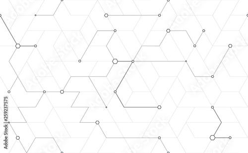 Stampa su Tela  Tillable grid mesh geometric pattern repeatable technology hi-tech