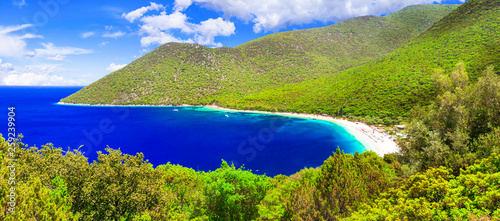 Best beaches of Kefalonia - Antisamos bay, Ionian islands of Greece