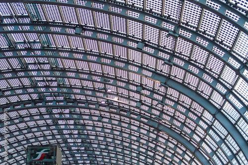Slika na platnu TURIN, ITALY, 27 NOVEMBER 2018: The modern roof in glass and iron of the Torino