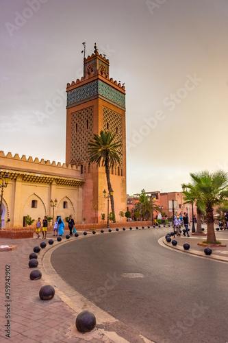 MARRAKECH, MOROCCO, 31 AUGUST 2018: street view of Marrakech Wall mural