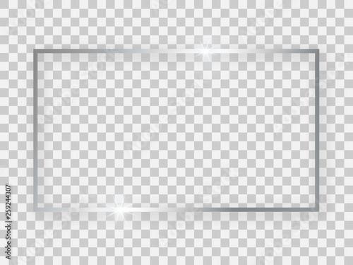 Silver shiny 16x9 rectangular frame Poster Mural XXL