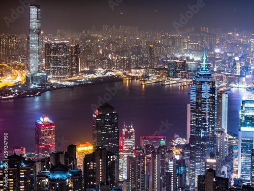 Hong-Kong 世界三大夜景 香港 ビクトリア・ハーバー