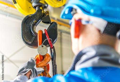 Fotografie, Obraz  Caucasian Lifting Crane Operator