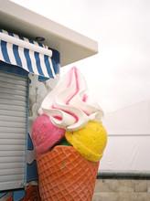 Big Yummy Ice Cream Sign