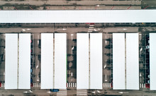 Aerial View Of A Car Parking