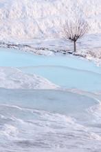 Blue Spring Water In Limestone Pools
