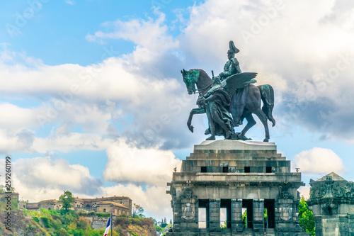 Fototapeta Memorial of German Unity in Koblenz, Germany