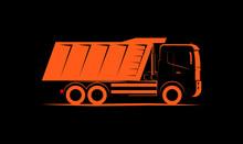 Dump Truck Simple Side View Sc...