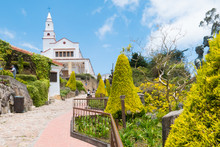 Colombia Bogota,  Climb To The Sanctuary Of Monserrate, Panoramic View With Gardens