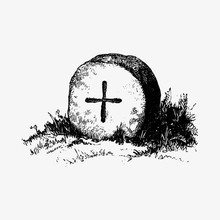 Old Tombstone Drawing