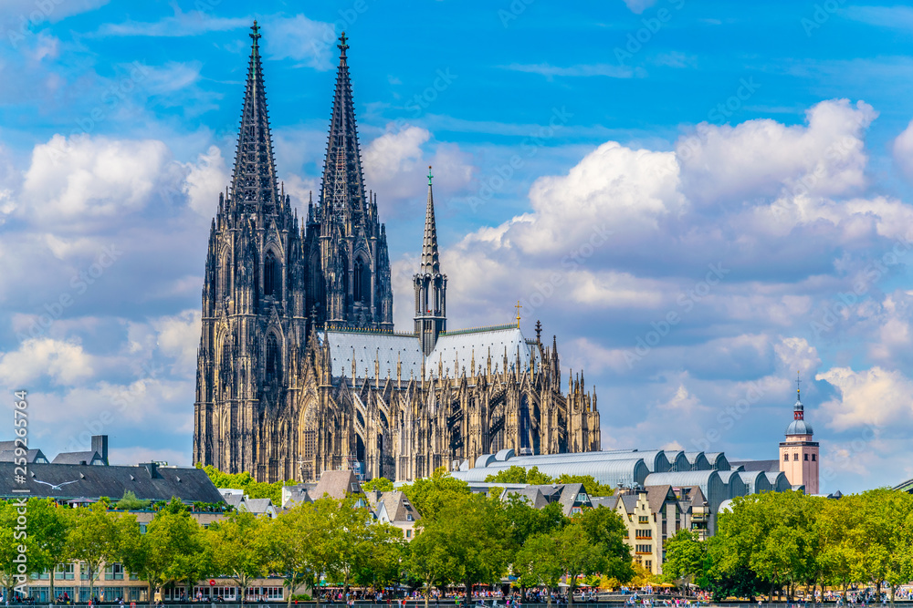 Fototapety, obrazy: Detail of the cathedral in Cologne, Germany