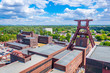 canvas print picture - Aerial view of Zollverein industrial complex in Essen, Germany