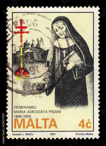 Abbess Venerable Maria Adecodata Pisani, maltese nun Canvas Print