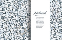 Grey Gravel Texture Wallpaper And Space For Write. Vector Illustration Eps 10