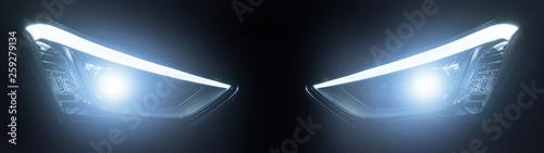 Obraz headlight of modern prestigious car closeup - fototapety do salonu