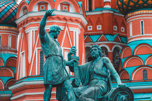 Statue Of Church In Moscow Russia