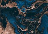 Malarstwo współczesne. Abstrakcja. Unikalny ręcznie malowany obraz do kreatywnego projektowania plakatów, tapet. Nowoczesne dzieło sztuki. Grafika mieszana. Niezwykły styl artystyczny. Farby niebieskie i brązowe. - 259280906