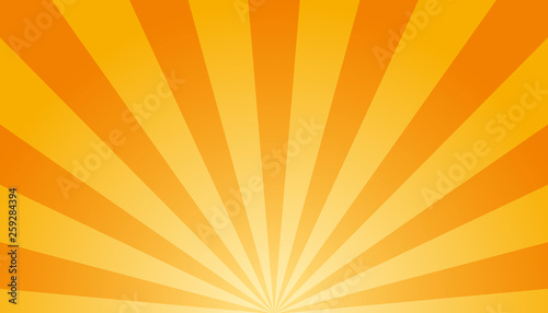 Orange And White Sunburst Background - Vector Illustration Tableau sur Toile