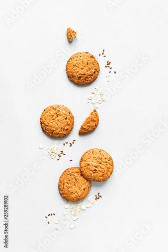 Oat Cookies Fototapeta