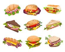 Vector Sandwiches Illustration